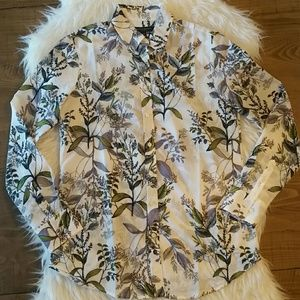 Banana Republic Dillon Shirt Floral Print XS
